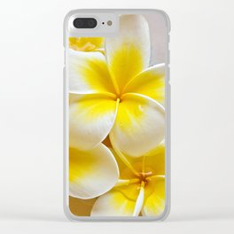 Plumeria Blossoms Clear iPhone Case