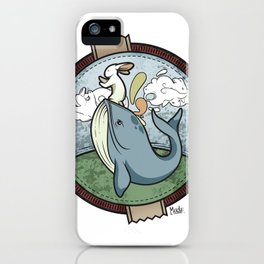Tai Chi The Rabbit and The Whale iPhone Case