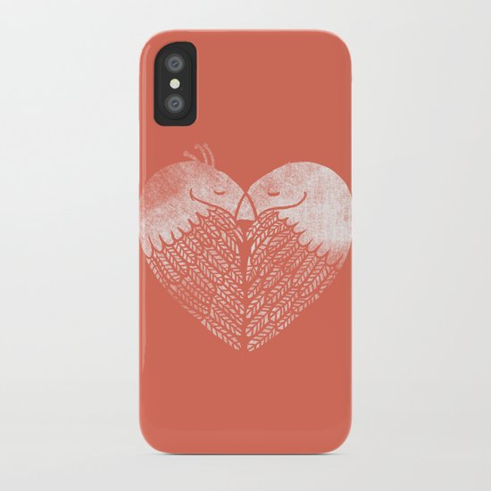 Love birds sitting on a tree iPhone Case