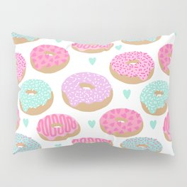Donut hearts pastel colors love happy hipster foodie funny valentines day Pillow Sham