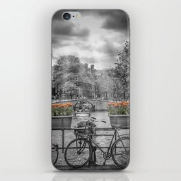 AMSTERDAM Gentlemen's Canal | upright panoramic view iPhone Skin