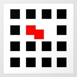 No Touching (Square) Art Print