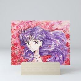 Rei Hino in Roses Mini Art Print
