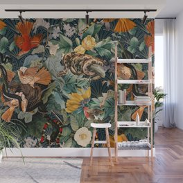 Birds and snakes Wall Mural