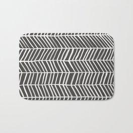 Herringbone – Black & White Bath Mat