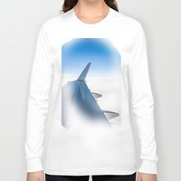 airplane Long Sleeve T-shirts featuring Airplane by Fernando Derkoski