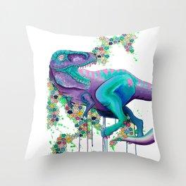 Floral Rex Throw Pillow