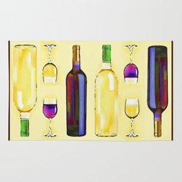 Let's Have Some Wine Rug