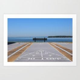Symmetry of The Chesapeake Bay Art Print