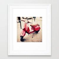 vespa Framed Art Prints featuring vespa by iokk