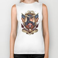 forever young Biker Tanks featuring FOREVER YOUNG by Tim Shumate