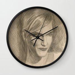 Home Decor Drawing Woman Digital Art Bedroom Decoration Original Wall Print Wall Clock