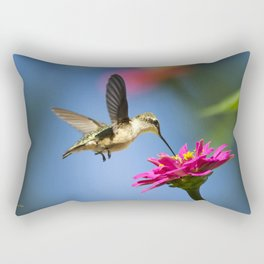Hummingbird Flight Rectangular Pillow