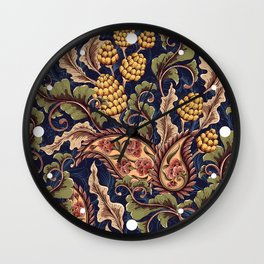Beautiful Victorian Vintage Floral Pattern Wall Clock