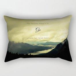 Where I've Never Been Rectangular Pillow