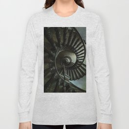 Brown wooden spiral staircase Long Sleeve T-shirt