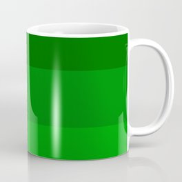 Irish Kelly Green Ombre Stripes Coffee Mug