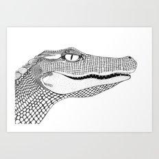 Gator Art Print