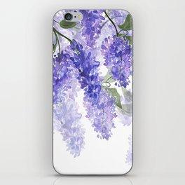 Purple Wisteria Flowers iPhone Skin
