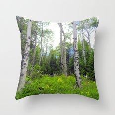 Secret Meadow Throw Pillow