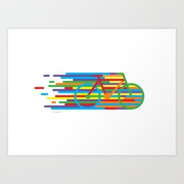 Colourful cycling 2 Art Print