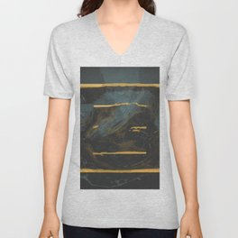 three lines in a box Unisex V-Neck