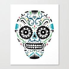 Sugar Skull SF multi -  on white Canvas Print