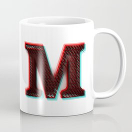 Stereoscopic 3D M Initial Letter Coffee Mug
