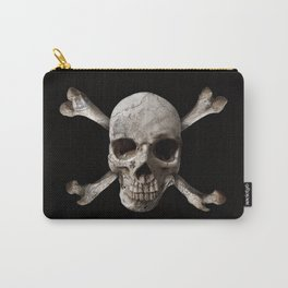 Jolly Roger - Black and Bone Carry-All Pouch