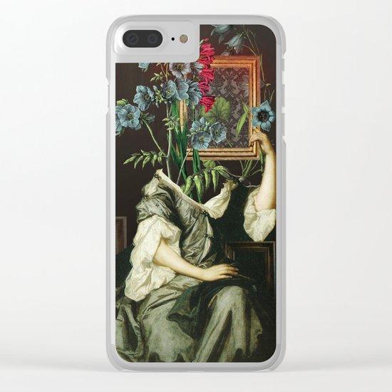 Florales Portrait Disaster Clear iPhone Case