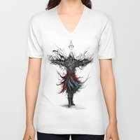 assassins creed V-neck T-shirts featuring assassins creed by ururuty