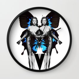 Butterfly Twin Goddess  Wall Clock