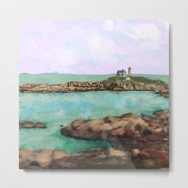 The Nubble Lighthouse of York, Maine Metal Print