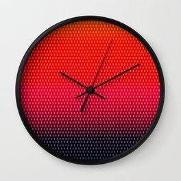 Fall Dragon Scales Wall Clock