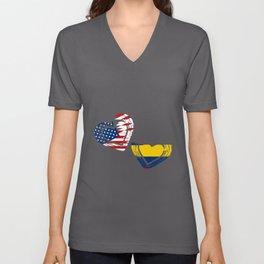 Colombian American Unisex V-Neck