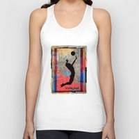 volleyball Tank Tops featuring Volleyball Girl by beeczarcardsandgifts