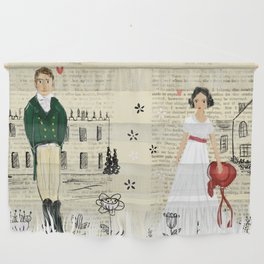 Mr.Darcy of Pemberley and Miss Bennet of Longbourn Wall Hanging