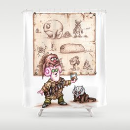 Zlozz and his Poo! Shower Curtain