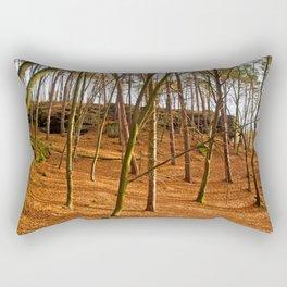 Tangerine forest Rectangular Pillow