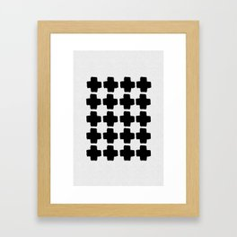 Black and White Abstract III Framed Art Print