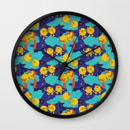 Love is in the Galaxy Wall Clock
