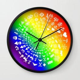 Rainbow Love Symbol Mandala Wall Clock