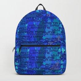 Surf Spots Splash in Wave Blue Backpack