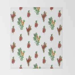 Beautiful Australian Native Floral Pattern Throw Blanket