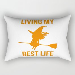 Living My Best Life Inspirational Witch Design Rectangular Pillow