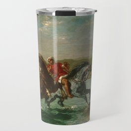 "Eugène Delacroix ""Horses Coming Out of the Sea"" Travel Mug"