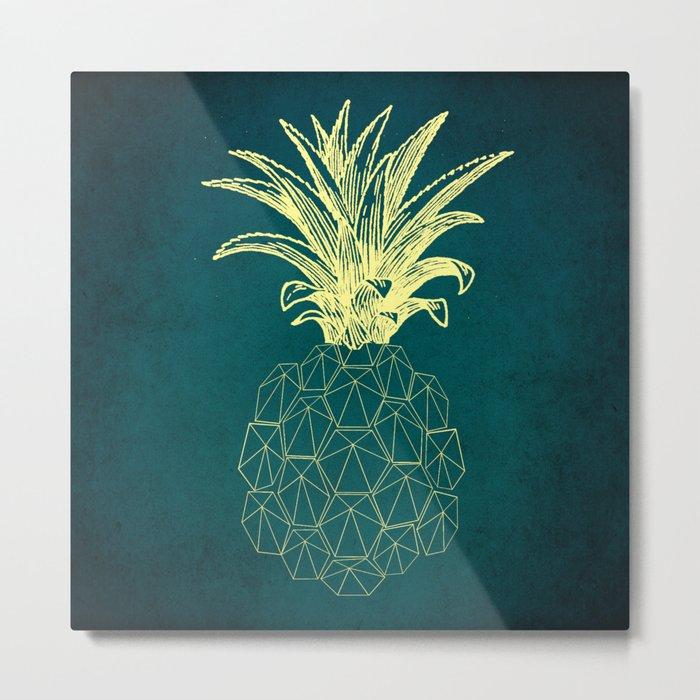 y-hello pineapple Metal Print