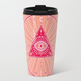 Evil Eye Mandala – Pink Travel Mug