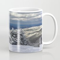 skiing Mugs featuring Skiing in Vermont by BACK to THE ROOTS