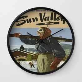 Vintage poster - Sun Valley Wall Clock